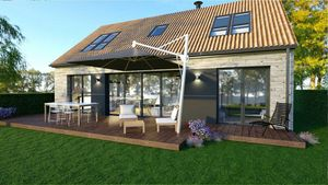 Nature Et Logis Casa con marco de madera