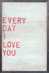 Sugarboo Designs - art print - everyday i love you - Cuadro Decorativo