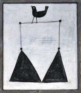 Sugarboo Designs - art print - bird on a wire - Cuadro Decorativo