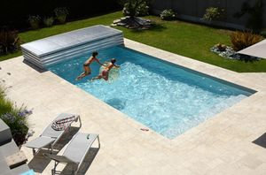 Abri piscine POOLABRI - amovible - Cubierta De Piscina Baja Clásica