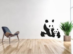 WHITE LABEL - sticker panda - Adhesivo