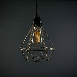 Filament Style - diamond 1 - suspension or câble noir ø18cm | lampe - Lámpara Colgante