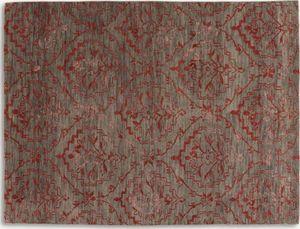 WHITE LABEL - basanti tapis laine rouge taupe 170x240 cm - Alfombra Contemporánea