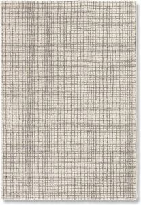 WHITE LABEL - davinci tapis quadrillé beige 160x230 cm - Alfombra Contemporánea