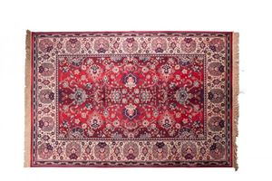 WHITE LABEL - tapis bid rouge de dutchbone - Alfombra Bereber