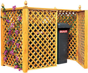 Ideanature - double cache conteneur en pin traité - Cubre Papelera