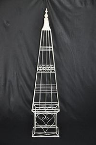 Demeure et Jardin - obelisque fer forge récamier - Obelisco