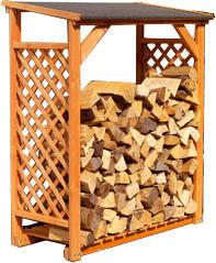 Ideanature - abri bûches miel en bois 119x148x69cm - Cobertizo Para Leña