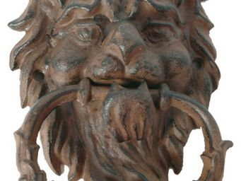 Antic Line Creations - heurtoir lion antique en fonte - Campana De Exterior