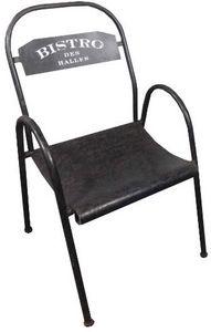 Antic Line Creations - chaise métal bistro des halles - Silla