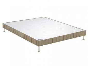 Bultex - bultex sommier tapissier confort ferme daim 160*2 - Canapé Con Muelles