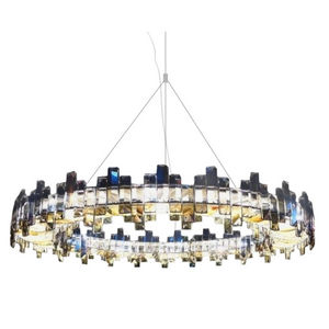 ALAN MIZRAHI LIGHTING - am7455 crystal saturne - Araña
