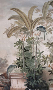Ananbô - le jardin aux oiseaux couleur - Papel Pintado