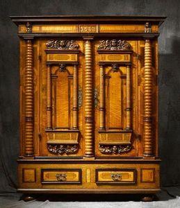 Bertrand Klein - armoire alsace renaissance 7 colonnes - Armario Alsaciano