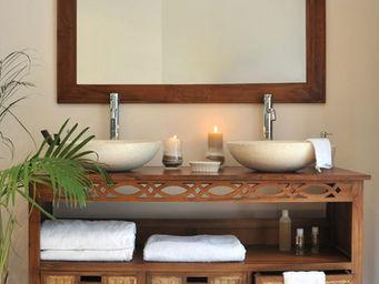 SANITECK - meuble de salle de bain en teck attessam - Mueble De Ba�o Dos Senos