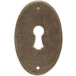FERRURES ET PATINES - entree de meuble ovale en fer vieilli style louis - Roset�n De Puerta