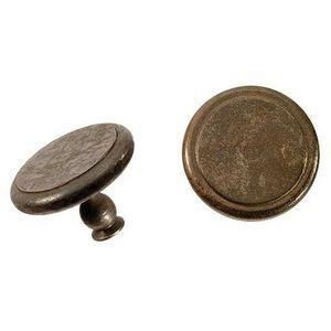 FERRURES ET PATINES - bouton de porte en fer vieilli pour porte d'entre - Botón De Mueble Y Armario