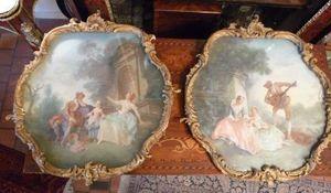 Art & Antiques - paire de gouache - Témpera