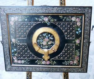 Art & Antiques - chevalet écritoire peint napoléon iii - Caballete