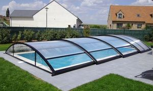 Abri piscine POOLABRI - libreo - Cobertizo De Piscina Rodable O Telescópico