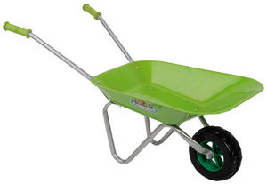 KIDS IN THE GARDEN - brouette verte pour enfant en métal avec poignée e - Carretilla