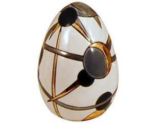Emaux De Longwy - oeuf taille 2 (moon) - Huevo Decorativo