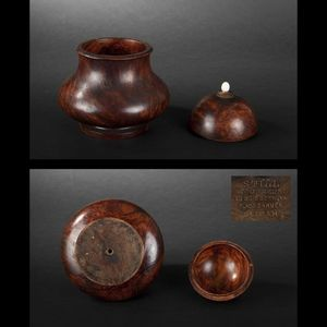 Expertissim - pot à tabac couvert en bois de thuya - Tarro De Tabaco