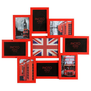 Maisons du monde - cadre 9 vues relief rouge - Marco Multivistas