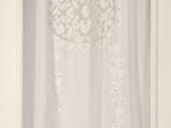 Coquecigrues - rideau brodé vélasquez blanc - Cortina Confeccionada