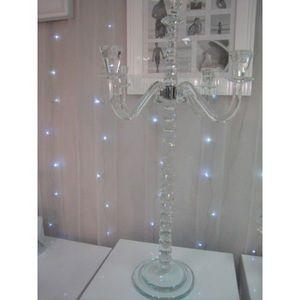 DECO PRIVE - chandelier de luxe en cristal h 85 cm  - Candelabro