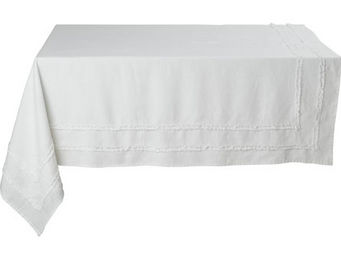 Athezza Home - nappe riga blanche 150x250cm - Mantel Rectangular