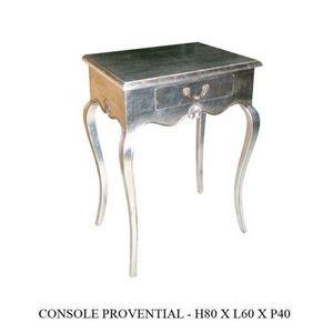 DECO PRIVE - console baroque en bois argente proventiale - Mueble Auxiliar
