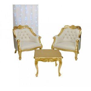 DECO PRIVE - decoration doree assuree avec cet ensemble 2 faute - Salón