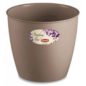 Stefanplast - lot de 3 cache-pots ou pots de fleurs ronds 4.5 l - Macetero