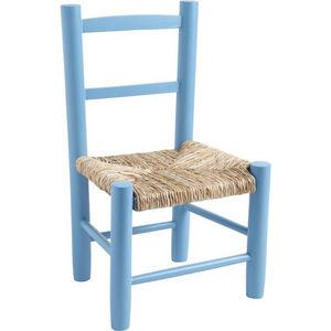 Aubry-Gaspard - petite chaise bois pour enfant bleu - Silla Para Niño