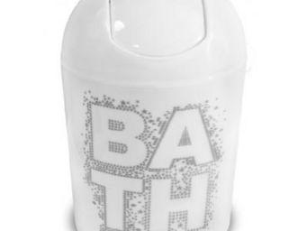 Cm - poubelle bath blanche - Papelera De Cuarto De Ba�o