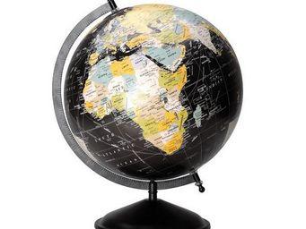 NetCadeau - globe terrestre noir grand mod�le - Globo Terrestre