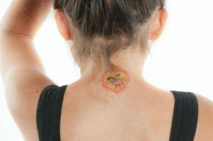 POULETTES BAZAR - love - Tatuaje Temporal