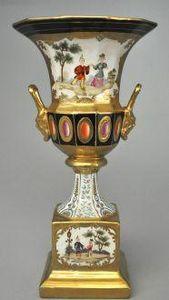 Demeure et Jardin - vase aux chinois - Jarro Decorativo