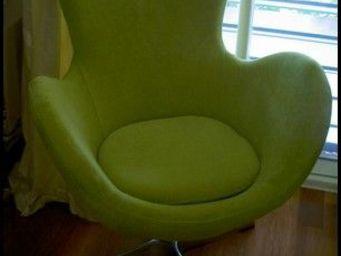 Mathi Design - fauteuil cocoon velours - Sillón Giratorio