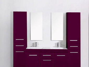 UsiRama.com - meuble double vasques think violet 2 colones 1.8m - Mueble De Baño Dos Senos
