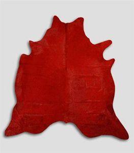 WHITE LABEL - tapis de peau de vache rouge - Piel De Vaca