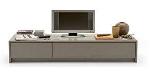 Calligaris - meuble tv password de calligaris grège 3 tiroirs - Mueble Tv Hi Fi