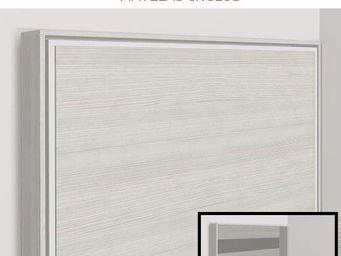 WHITE LABEL - armoire lit escamotable athena, chêne blanc. matel - Armario Cama