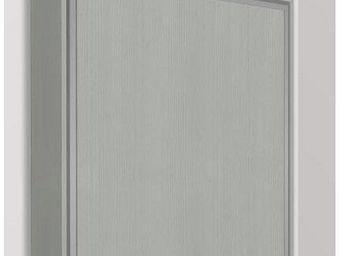 WHITE LABEL - armoire lit escamotable eos, chêne gris. matelas t - Armario Cama