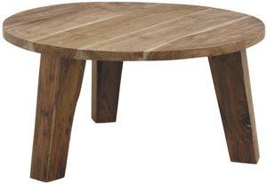 Aubry-Gaspard - table ronde en teck - Mesa De Centro Redonda