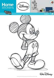 Nouvelles Images - sticker mural mickey type croquis - Adhesivo