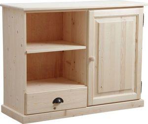 Aubry-Gaspard - meuble tv en bois brut - Mueble Tv Hi Fi