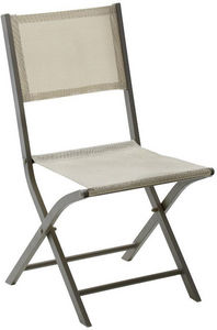 WILSA GARDEN - chaise pliante modulo (lot de 2) taupe - Silla De Jardín Plegable