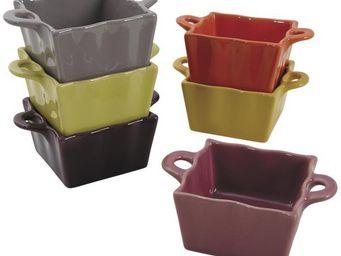 Aubry-Gaspard - ramequin carré en céramique (lot de 6) - Recipiente Para Pasteles